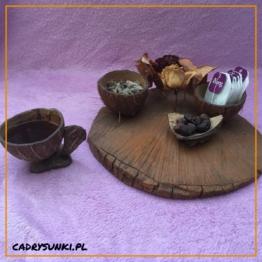 kokosowy zestaw naczyń