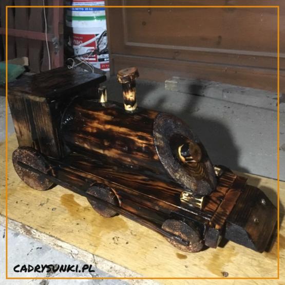 lokomotywa drewniana - pociąg