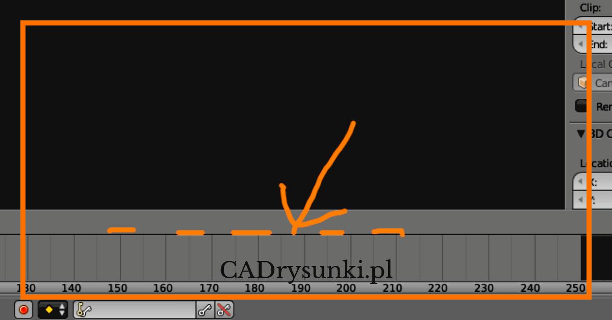 Podział okna ekranu głównego w programie do tworzenia grafiki komputeorwej blender