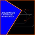 Metody zaokrąglania fazowania obiektów przedstawione na rysunku projektowym.