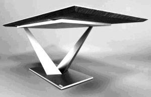 Stolik typu industrailnego z nogami giętymi stalowymi