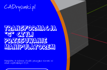 Ćwiczenie o przesuwaniu obiektów w przestrzeni czyli transofmacja g przesuwanie manipulatorem w programie blender