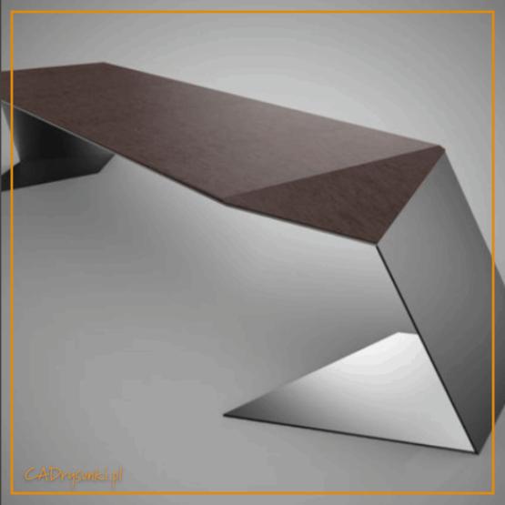 Duże biurko z blatem o wymiarach 160 x 80 cm i wysokość 80 cm. Blat z naturalnego litego drewna lub okleiną meblową drewnopodobną z wyczuwalną strukturą drewna.