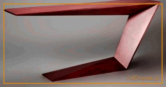 Biurko które tworzy jedną bryłę w kształcie litery c