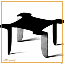 Stolik do mieszkania w bloku wykonany ze stali i drewna. Nogi metalowe proste gięte a blat w kształcie kwadratu.