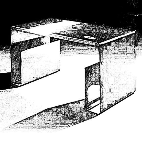 Biurko dla młodzieży wykonane ze stali