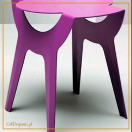 Stół nierozkładany kuchenny z metalowymi nogami i drewnianym blatem.