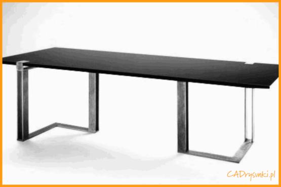 Biurko z podwójnymi stalowymi nogami