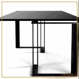 Biurko do gabinetu w stylu industrialnym z podwójnymi nogami stalowymi.