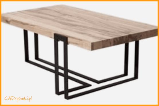 Stolik kawowy kwadratowy loftowy z nogami metalowymi i drewnianym blatem.