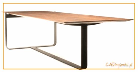 Biurko jasne drewno oklejone naturalnym fornirem lub lite drewno.