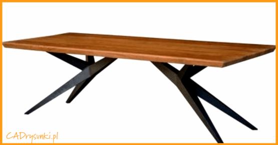 Biurko w stylu biesiadnym czyli z nogami rozdwajającymi się w kształt litery V