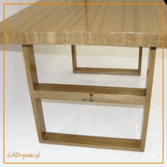 Wielofunkcyjny stół drewniany