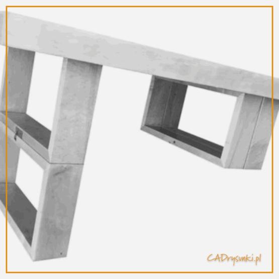Stół ze składanymi drewnianymi nogami