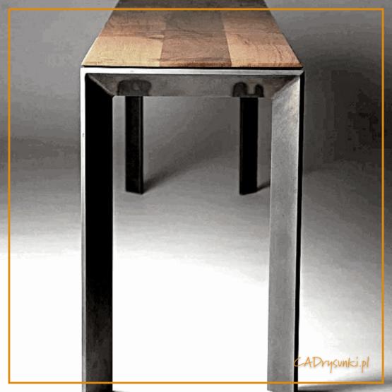 Stolik z rodzaju konsola z szerokim blatem.