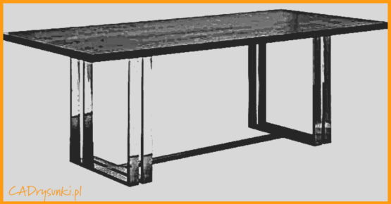 Szare biurko loftowe ze stalowymi nogami.