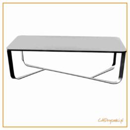 Stół z betonu i metalowymi nogami