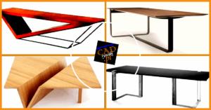 Mały drewniany stolik z nóżkami metalowymi lub drewnianymi