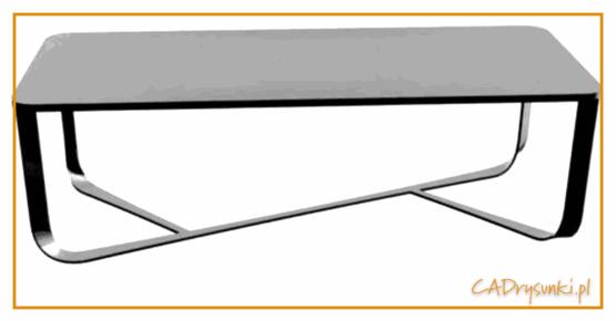 Stolik kawowy gdzie zestosowana jest imitacja naturalnego betonu na blacie.