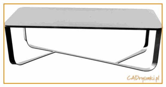Stół w którym jest blat z betonu architektonicznego.