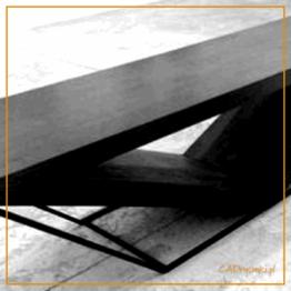 Stolik z drewna i metalu do małęgo eleganckiego mieszkania