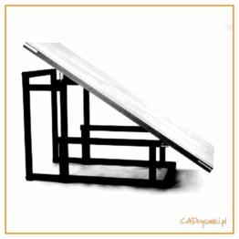 Składany stół balkonowy ze składanymi nogami